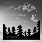 Forest Silhouette Acrylic Award Employee Awards