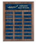 Recognition Pocket Perpetual Plaque with Blue Plates Employee Awards