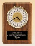 American Walnut Vertical Wall Clock. Executive Gift Awards