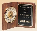 American Walnut Book Clock Executive Gift Awards
