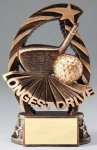Golf Longest Drive Resin Trophy Golf Awards