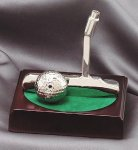 Putter and Ball On Wood Base Golf Awards
