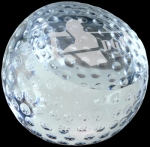 Crystal Golf Ball Paperweight Golf Awards