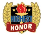 Highest Honor Pin Lapel Pins