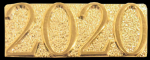 Gold Metal Chenille Letter 2020 Insignia Pin Lapel Pins