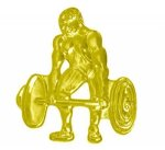 Weightlifter Chenille Pin Lapel Pins