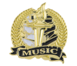 Bright Gold Academic Music Lapel Pin Lapel Pins