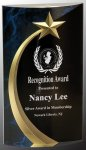 Blue Shooting Star Rounded Acrylic  Marble Awards
