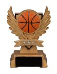 Basketball Victory Wing Resin Figure Multi-Activity Mylar Resin Trophy Awards
