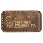 Leatherette Name Badge With Magnet Rustic Name Badges | Plates