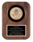 Walnut Army Insignia Plaaue Patriotic Awards