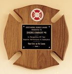 Maltese Cross Fireman Award Patriotic Awards