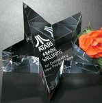 Slanted Star Paper Weight Patriotic Awards