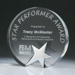 Top Star Circle Crystal Award Patriotic Awards