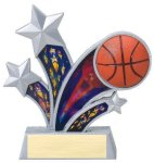 Rising Star Basketball Star Resin Rising Starburst Resin Trophy Awards