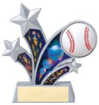 Rising Star Baseball Star Resin Rising Starburst Resin Trophy Awards