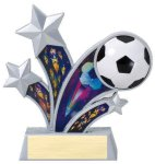 Rising Star Soccer Ball Star Resin Rising Starburst Resin Trophy Awards