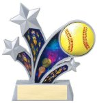 Rising Star Softball Star Resin Rising Starburst Resin Trophy Awards