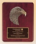 Antique Eagle Rosewood Piano Finish Plaque Sales Awards