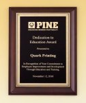 Cherry Finish Plaque Sales Awards