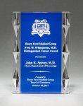 Acrylic Award with Blue Background and Jewel Accents Sales Awards