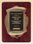 Rosewood Piano Finish Plaque with Antique Bronze Casting Sales Awards