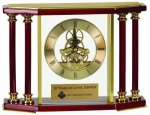 Executive 4 Pillar Rosewood Piano Finish Clock Sales Awards