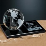 Galaxy Globe on Black Glass Base Sales Awards