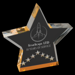 Gold Star Performance Acrylic Sales Awards