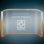 Gold Acrylic Crescent Sales Awards