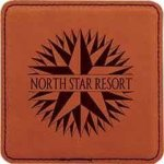 Rawhide Leatherette Square Coasters Sales Awards