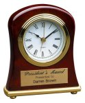 Rosewood Piano Finish Bell Shaped Clock Sales Awards