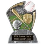 Large Spin Award Baseball Spin Resin Trophy Awards